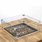 American Fyre Designs 19'' Square Glass Wind Guard