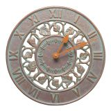 Whitehall Products Ivy 12'' Indoor Outdoor Wall Clock