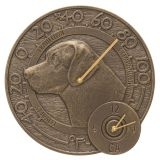 Labrador 14'' Indoor Outdoor Wall Clock and Thermometer
