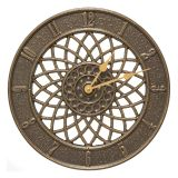 Whitehall Products Spiral 14'' Indoor Outdoor Wall Clock