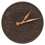 Whitehall Products Vine and Fleur 16'' Indoor Outdoor Wall Clock