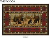 Gow 11050 Vista Bears At Cabin Rug
