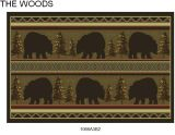 Gow 11053 Vista Bears In Evergreens Rug