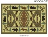 Gow 11054 Vista Bear and Moose On Patrol Rug