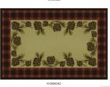 Gow 11056 Vista Cones Red Plaid Rug