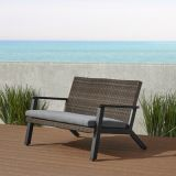 Real Flame 1121-BLK Norwood Two Seat Bench