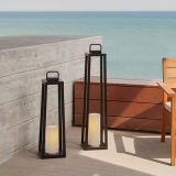 Real Flame 161-BLK Redvale 32'' Lantern with Flameless Candle in Black