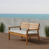 Real Flame 1916-TEAK Hale Two Seat Bench in Teak Finish