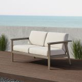 Real Flame 2015-GRW Speer Two Seat Bench in Gray Wash