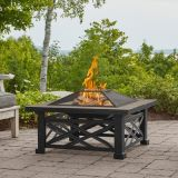 Real Flame 909-BLK Larkspur Wood Burning Fire Pit in Black