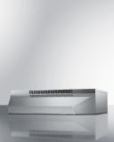 Summit 36'' Under Cabinet Ductless Range Hood in SS - ADA Compliant