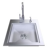 20'' ADA Compliant Sink with Cover and Hot/Cold Faucet