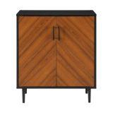Walker Edison 28'' Modern Bookmatch Accent Cabinet - Solid Black