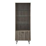 Walker Edison 68'' Mid-Century Modern Storage Cabinet - Slate Grey