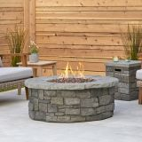 Sedona Round Propane Fire Table w/Natural Gas Conversion Kit - Gray