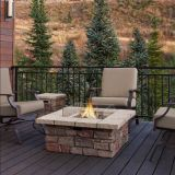 Sedona Square Propane Fire Table w/Natural Gas Conversion Kit - Gray