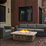 Sedona Rectangle Propane Fire Table with NG Conversion Kit - Gray