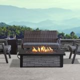 Berthoud Propane Fire Table with NG Conversion Kit - Stacked Stone