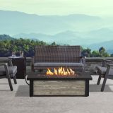 Fairplay Propane Fire Table with NG Conversion Kit - Gray Wood