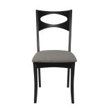 Mid Century Modern Upholstered Seat Set of 2 Dining Chair - Black