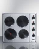 Summit CSD4B24 24'' Wide 230V 4-Burner Solid Disk Cooktop