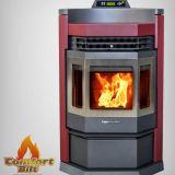 ComfortBilt CT-HP22NSS-BUR Stainless Steel Pellet Stove - Burgundy