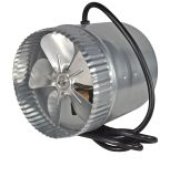 Suncourt Inductor 6'' High CFM Corded In-Line Duct Booster Fan