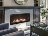 """48"""" Boulevard DV Linear Fireplace w/Bronze Reflective Crushed Glass-NG"""