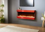 Evolution Fires 3 Sided Empire 44'' Electric Fireplace - Red Gloss