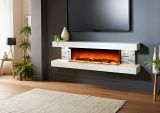 Evolution Fires 72'' Vegas Wall Mount Electric Fireplace - White