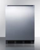 Summit FF6BKBISSHH 24'' Wide Black Cabinet Built-In All-Refrigerator