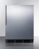 Summit FF6BKBISSHV 24'' Wide Built-In Black Cabinet All-Refrigerator