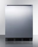 Summit FF6BKSSHH 24'' Wide All-Refrigerator with Exterior Fan