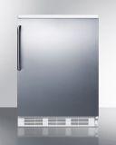 Summit FF6WSSTB 24'' Wide All-Refrigerator with Stainless Steel Door