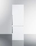 Summit FFBF241W 24'' Wide Bottom Freezer Refrigerator - White
