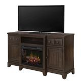 Heinrich Media Console Electric Fireplace with Realogs Firebox