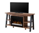 Fiona Media Console Electric Fireplace with Acrylic Ice Firebox