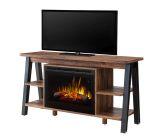Dimplex Fiona Media Console Electric Fireplace - Tan Walnut