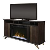 Grace Media Console Electric Fireplace with Acrylic Ice Firebox