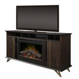 Dimplex Grace Media Console Electric Fireplace with Log Set Firebox