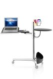 Octoo LAP-01 Lap Table Mobile Work Station - Chrome and Black