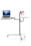 Octoo LAP-02 Lap Table Mobile Work Station - Chrome and White