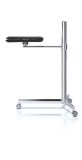 Octoo LAPZOOM-01 Lap Table Zoom Mobile Desk Cart - Chrome and Black