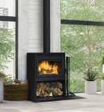 Supreme Fireplaces NOVO-38 Freestanding Wood Stove-Soapstone Slabs