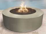 72'' Florence Concrete Electronic Ignition Fire Pit in Vanilla - NG