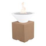 The Outdoor Plus GFRC Pillar for Fire Bowls - Vanilla
