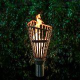 Roman Stainless Steel Top Fire Torch #7 w/Top-Lite Torch Base - LP