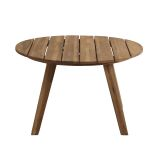 Walker Edison OW30CLCTBR 30'' Acacia Round Coffee Table - Brown