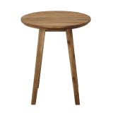 Walker Edison 20'' Acacia Wood Outdoor Round Side Table - Brown