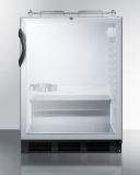 Summit SBC56GBINKADA 24'' Wide Built-In Beer Dispenser - Glass, Black